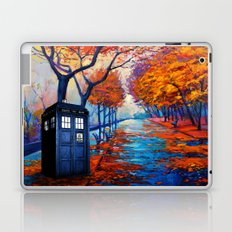 Tardis Autumn Alley Laptop & iPad Skin