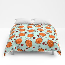 Super Canadian Maple Syrup Pattern Comforters