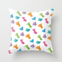 Happy colours cheering -pattern Throw Pillow