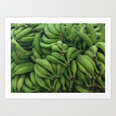 Platano Verde Art Print