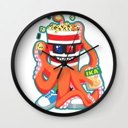 Hurricane Popcorn Kaiju Food Monster Wall Clock