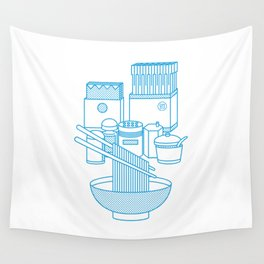 Ramen Set Wall Tapestry