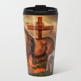 The Lion And The Lamb Travel Mug