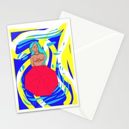 Lonely girl Stationery Cards