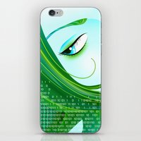 cyberpunk iPhone & iPod Skins featuring Cyberpunk by Sandra Höfer