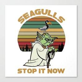 Seagulls Stop It - Vintage Canvas Print