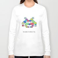 boss Long Sleeve T-shirts featuring invader boss by techjulie