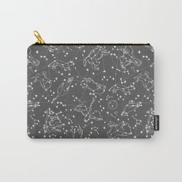 Constellations animal constellations stars outer space night sky pattern by andrea lauren grey Carry-All Pouch