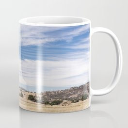 Dry meadows and rolling hills near Julian, CA Coffee Mug