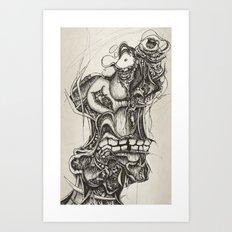 anxious Art Print