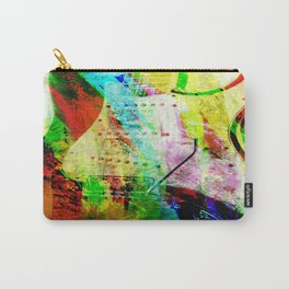 Abstract Electric Guitar Carry-All Pouch