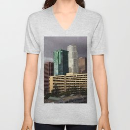 Los Angeles Cityscape Unisex V-Neck