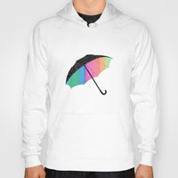 umbrella Hoodies featuring umbrella by Luna Portnoi