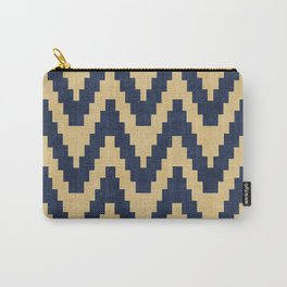 Twine in Blue and Gold Carry-All Pouch