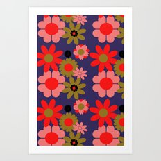 Groovy baby floral Art Print