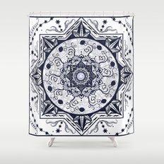 Hearts and Buddha Mandala Shower Curtain
