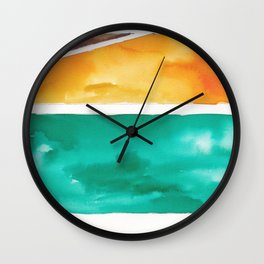 180811 Watercolor Block Swatches 7| Colorful Abstract |Geometrical Art Wall Clock