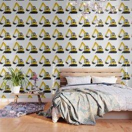 Yellow Excavator Wallpaper