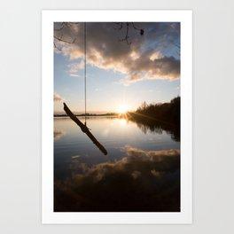 Rope Swing  Art Print
