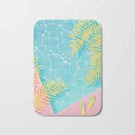 Tropical pool chill Bath Mat