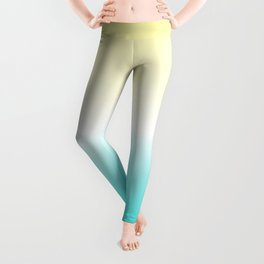 Yellow White Blue Gradient Leggings