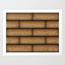 Realistic wood texture Art Print