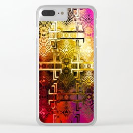 1001 Lights Pattern (gold-magenta-vermillion) Clear iPhone Case
