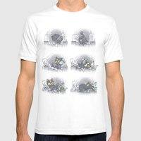 DOOMcat White SMALL Mens Fitted Tee