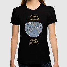 Cute Kintsugi Turn Wounds Into Gold T-shirt