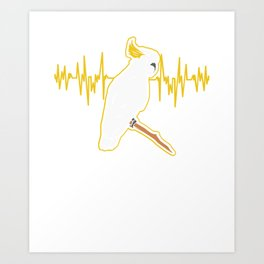 Cockatoo Heartbeat For A Parrot Lover product Art Print