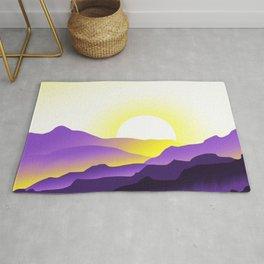Nonbinary Pride Sunrise Landscape Rug