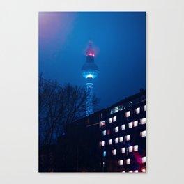 Berlin TV Tower at Night Canvas Print