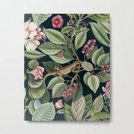 Iguana in the garden III Metal Print