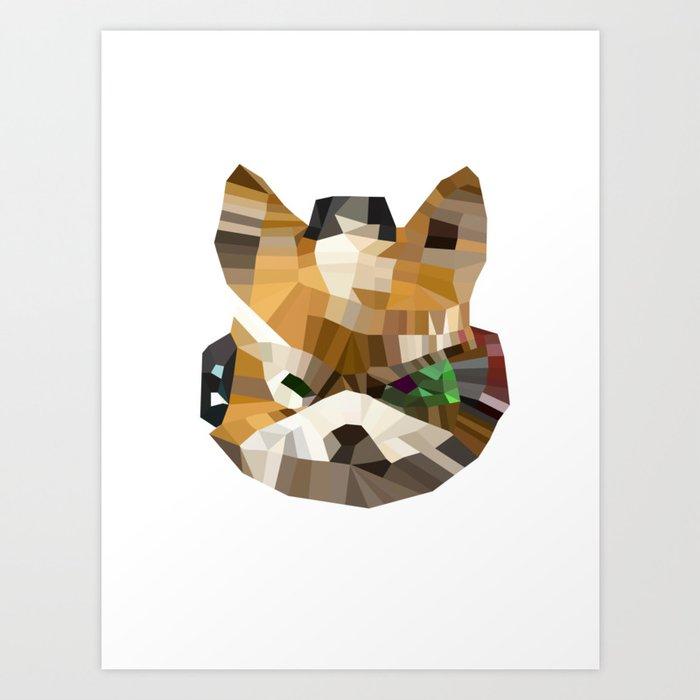 Fox Mccloud Starfox Polygon Art Print By Greeck
