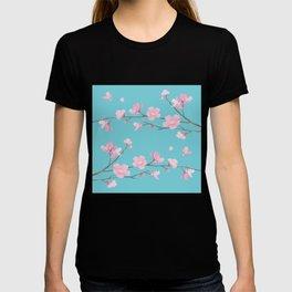 Cherry Blossom - Robin Egg Blue T-shirt