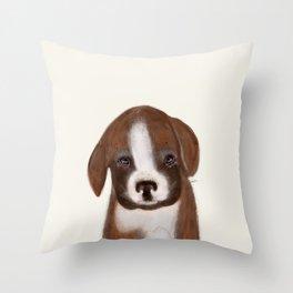 little boxer Throw Pillow
