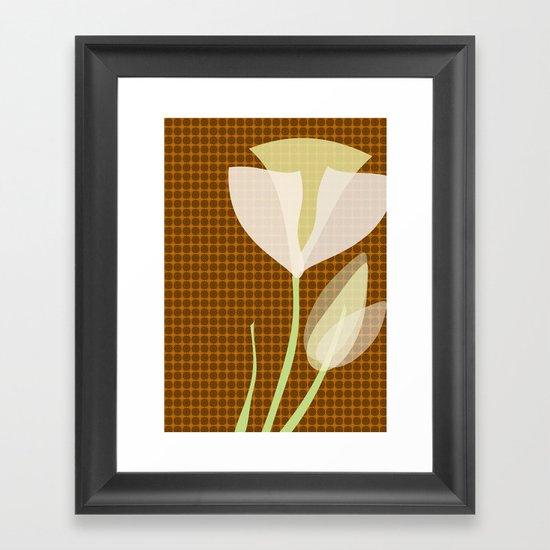 Modern Poppy Flower Framed Art Print