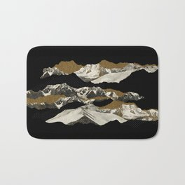 Golden Zugspitze / Black Bath Mat