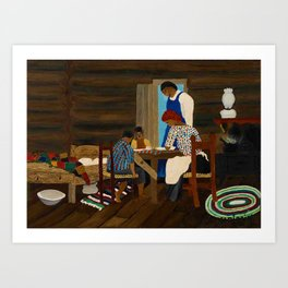 African American Masterpiece 'Giving Thanks' by Horace Pippin Art Print