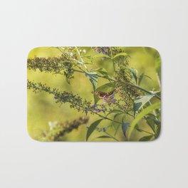 Great Spangled Fritillary on a Butterfly Bush Bath Mat
