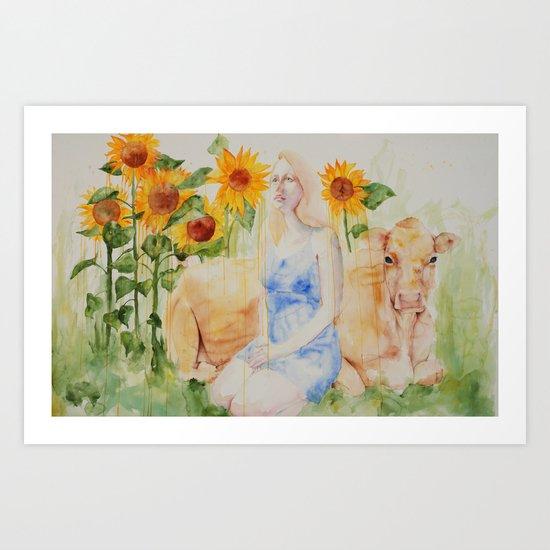 Fatted Calf Art Print