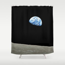 Earthrise High Resolution Shower Curtain
