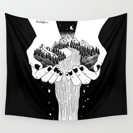 The world in my hand Wall Tapestry