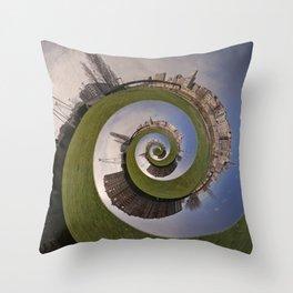 Lleida en caracol Throw Pillow