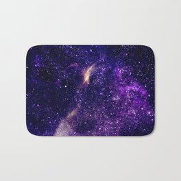 Ultra violet purple abstract galaxy Bath Mat