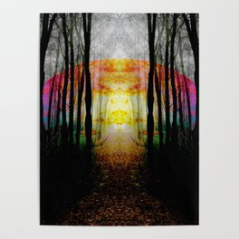 Rainbow Path To Imagination Poster
