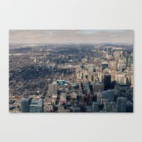 toronto Canvas Prints featuring Toronto by Nick De Clercq