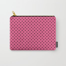 Pink With Black Dots Carry-All Pouch