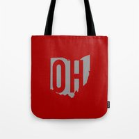 ohio state Tote Bags featuring Ohio State Pride by Jessica C