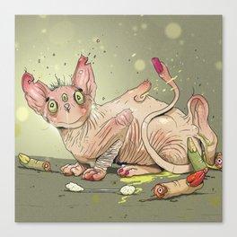 Wrinkle Cat Canvas Print